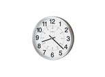 Easton Contemporary Wall Clock in Nickel - Howard Miller