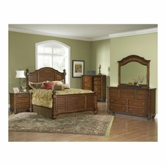 Eastport 5 Pc Toasted Oak Bedroom Set with Door Chest - Largo - LARGO-WG-B1055-SET2