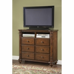 Eastport Toasted Oak HD Media Chest - Largo - LARGO-ST-B1055-28