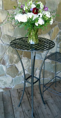 Easy to Assemble Iron Bar Table - Pewter - Pangaea Home and Garden Furniture - FM-C4460