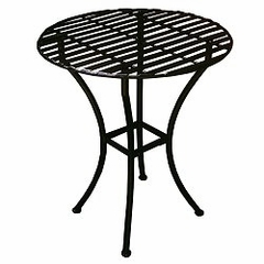 Easy to Assemble Iron Bistro Table - Round Black - Pangaea Home and Garden Furniture - FM-C4852-K