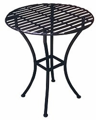 Easy to Assemble Iron Bistro Table - Round Pewter - Pangaea Home and Garden Furniture - FM-C4852