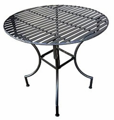Easy to Assemble Patio Table - Round Pewter - Pangaea Home and Garden Furniture - FM-C4125RD
