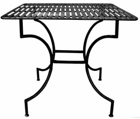 Easy to Assemble Patio Table - Square Black - Pangaea Home and Garden Furniture - FM-C4125-K