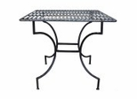 Easy to Assemble Patio Table - Square Pewter - Pangaea Home and Garden Furniture - FM-C4125