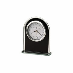 Ebony Luster Arched Alarm Clock - Howard Miller