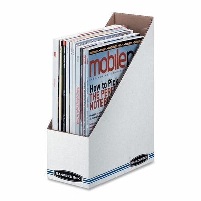 Economy/Storage Magazine File - White/Blue - FEL00723