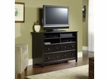 Edge Water Highboy TV Stand Estate Black - Sauder Furniture - 409242
