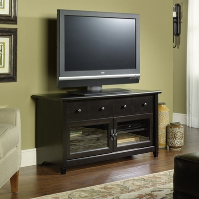 Edge Water Panel TV Stand Estate Black - Sauder Furniture - 409047