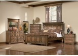 Edgewood Eastern King Size Bedroom Furniture Set in Warm Brown Oak - Coaster - 201621KE-BSET