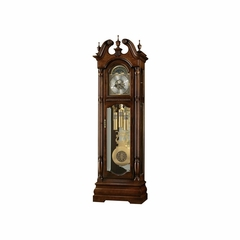 Edinburg Grandfather Clock in Cherry Bordeaux - Howard Miller