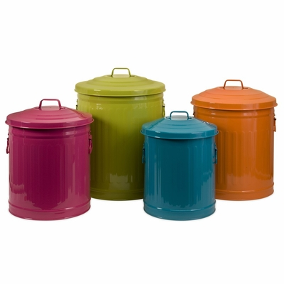 Edison Brights Storage Cans (Set of 4) - IMAX - 44095-4