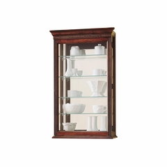 Edmonton Windsor Cherry Wall Display Cabinet - Howard Miller