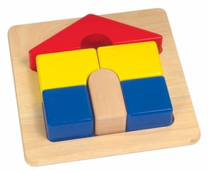 Educational Toy - Chunky Puzzles House - Guidecraft - G2017