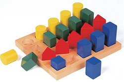 Educational Toy - Colored Geo Forms - Guidecraft - G2004