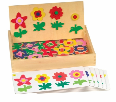 Educational Toy - Flower Match Garden Patch - Guidecraft - G5064