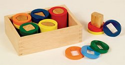 Educational Toy - Geometric Counting Cylinders - Guidecraft - G3080