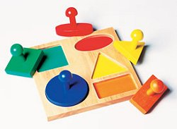 Educational Toy - Geometric Puzzle Board - Guidecraft - G527