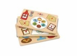 Educational Toy - Holiday Puzzles (4) and Rack - KidKraft Furniture - 63048