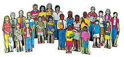 Educational Toy - Multi-Cultural Family Kit (24/set) - Guidecraft - G121