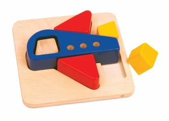 Educational Toy - Primary Puzzles Airplane in Multi - Guidecraft - G2021