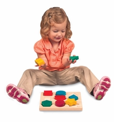 Educational Toy - Shape and Color Sorter in Multi - Guidecraft - G6703
