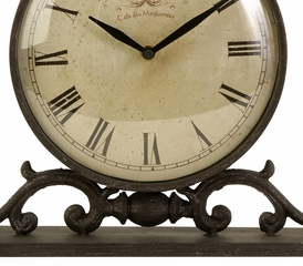 Eilard Iron Table Clock - IMAX - 27562