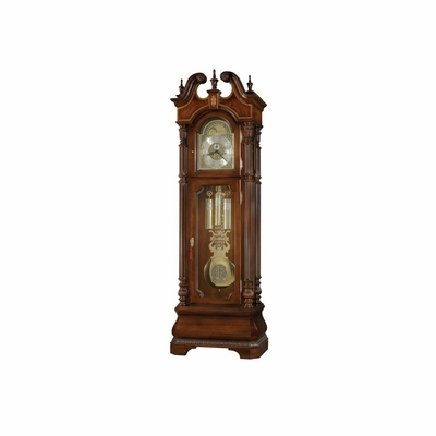 Eisenhower Grandfather Clock in Windsor Cherry - Howard Miller