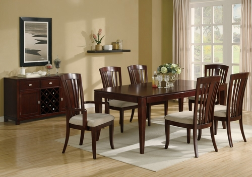 El Rey 8-Piece Dining Room Furniture Set in Deep Cherry - Coaster - 101621-5-DSET