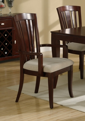 El Rey Arm Chair (Set of 2) in Deep Cherry - Coaster - 101623-SET