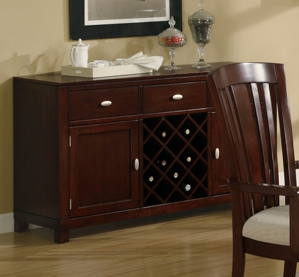 El Rey Server in Deep Cherry - Coaster - 101625