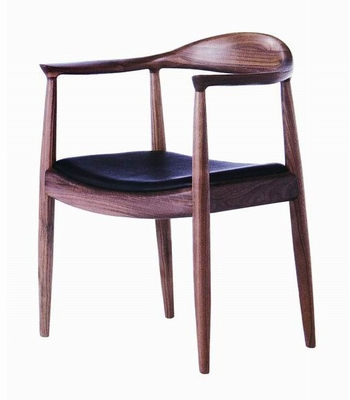 Elbow Arm Chair in Solid Ash Timber - DC-604-BROWN