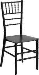 Elegance Black Resin Stacking Chiavari Chair - BH-BK-RESIN-GG