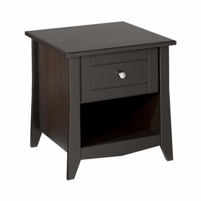Elegance End Table - 1 Drawer, 1 Open Storage Space - Nexera Furniture