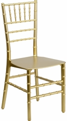 Elegance Gold Resin Stacking Chiavari Chair - BH-GD-RESIN-GG