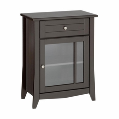 Elegance Hall Console - Glass Door, Drawer & Shelf - Nexera Furniture