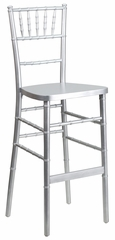 Elegance Silver Wood Chiavari Bar Stool - SZ-SILVER-BAR-GG