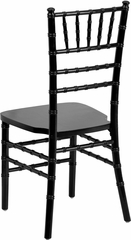Elegance Supreme Black Wood Chiavari Chair  - SZ-BLACK-GG