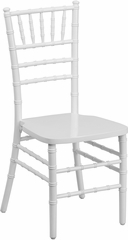 Elegance Supreme White Wood Chiavari Chair  - SZ-WHITE-GG