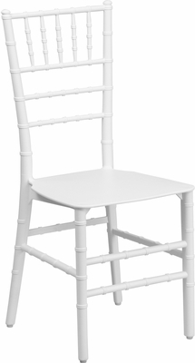 Elegance White Resin Stacking Chiavari Chair - BH-WH-RESIN-GG