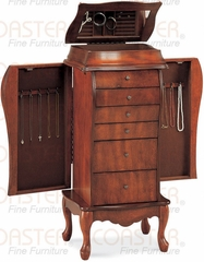 Elegant Jewelry Armoire in Antique Cherry - Coaster