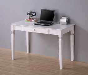 Elegant Solid Wood Desk in White - DW48S30WH