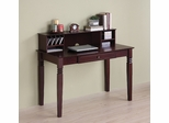 Elegant Solid Wood Desk with Hutch in Walnut Brown - DW48S30-DHWB