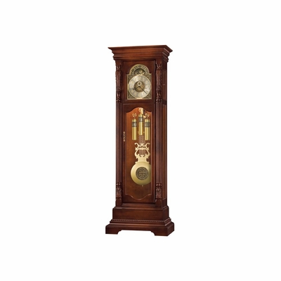 Elgin Grandfather Clock in Hampton Cherry - Howard Miller