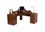 Elite Home Office Furniture Collection in Tuscany Brown - Bestar Office Furniture