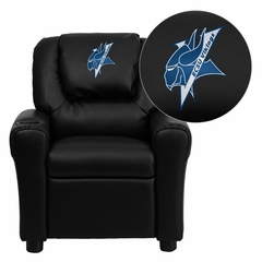 Elizabeth City State University Vikings Embroidered Black Vinyl Kids Recliner - DG-ULT-KID-BK-41028-EMB-GG