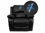Elizabeth City State University Vikings Leather Rocker Recliner - MEN-DA3439-91-BK-41028-EMB-GG