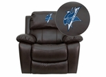 Elizabeth City State University Vikings Leather Rocker Recliner - MEN-DA3439-91-BRN-41028-EMB-GG