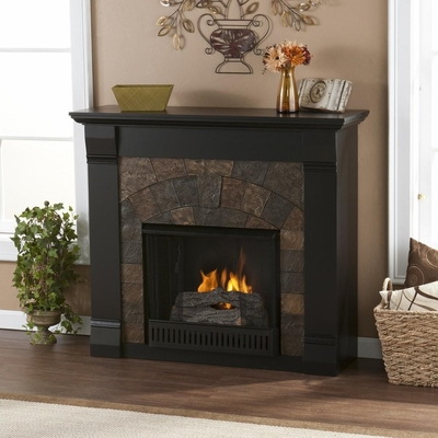 Elkmont Black Gel Fireplace - Holly and Martin