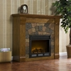 Elkmont Salem Antique Oak Electric Fireplace - Holly and Martin